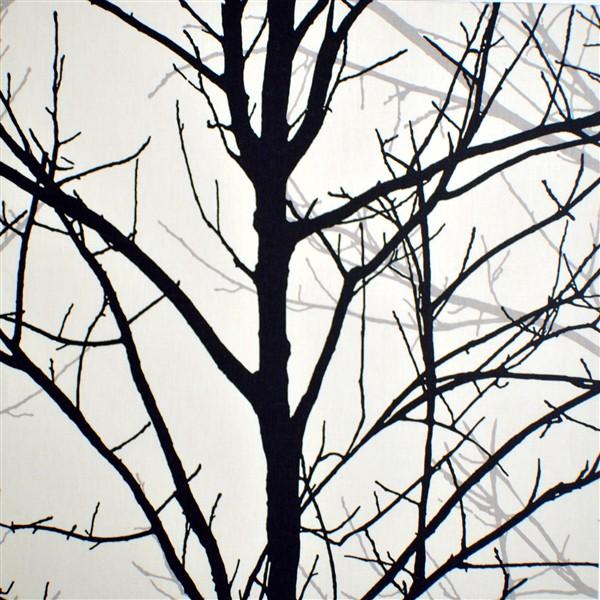 tyg med träd